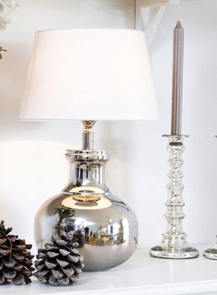 Shirin bordlampe - sølv