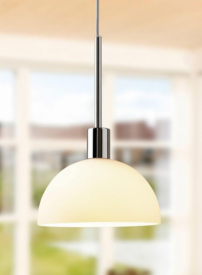 Vienda taklampe - krom/opal