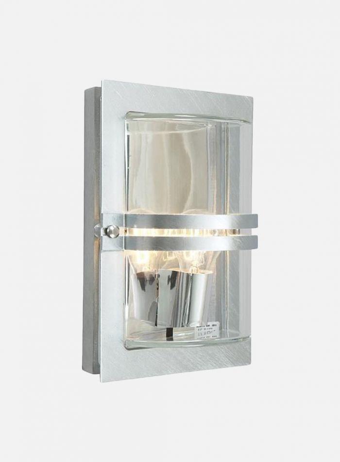 Basel 660 utelampe - galvanisert stål