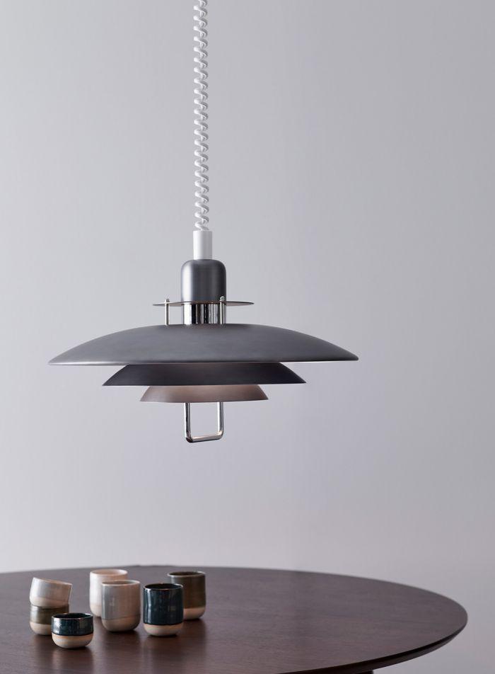 Primus II taklampe - oxid/grå