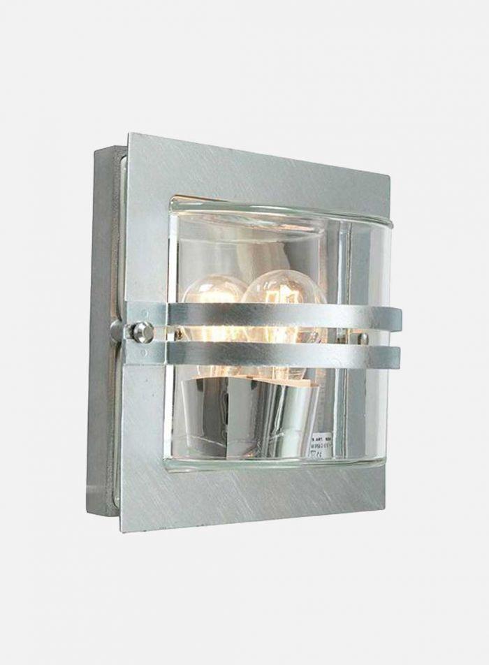 Bern 650 utelampe - galvanisert stål/klar