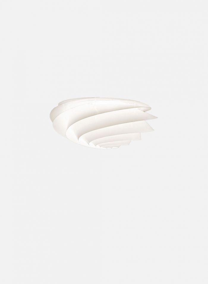 Swirl taklampe/vegglampe Ø37 - hvit