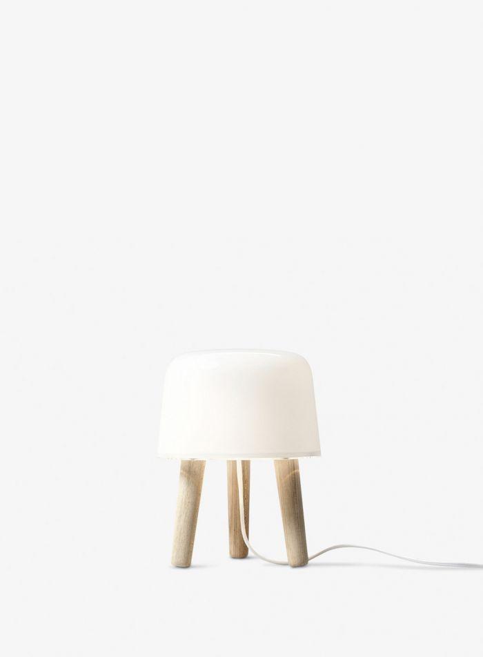 Milk NA1 bordlampe - natur m/hvit ledning