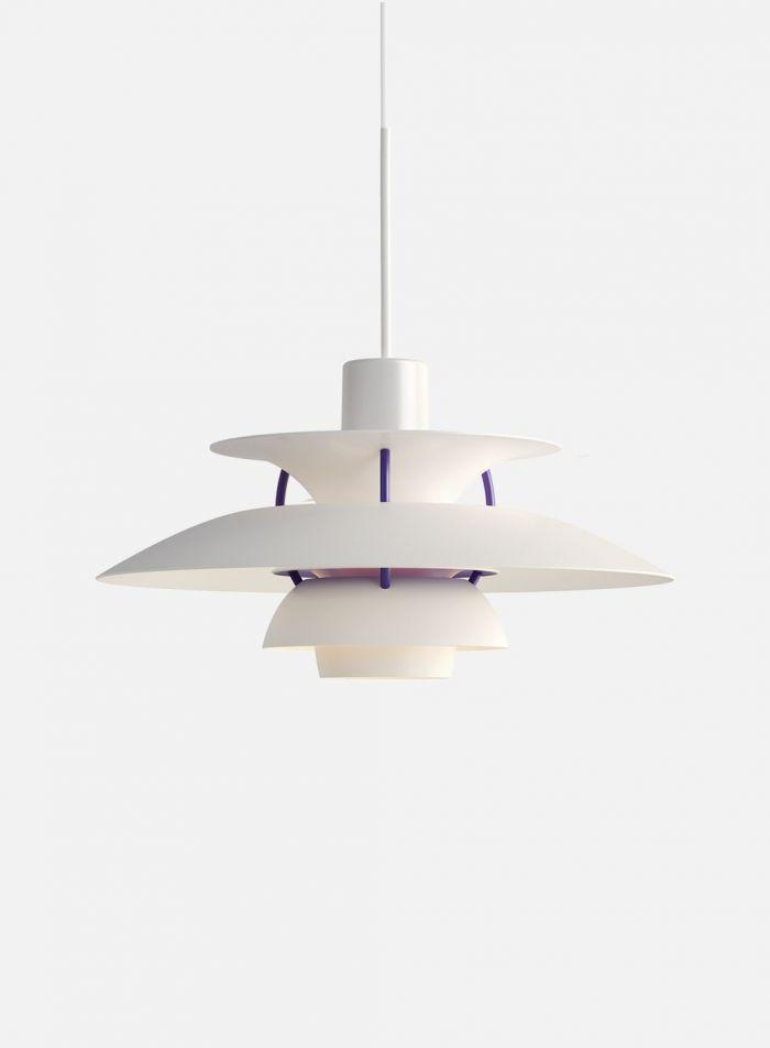 PH 5 taklampe Ø50 - klassisk hvit