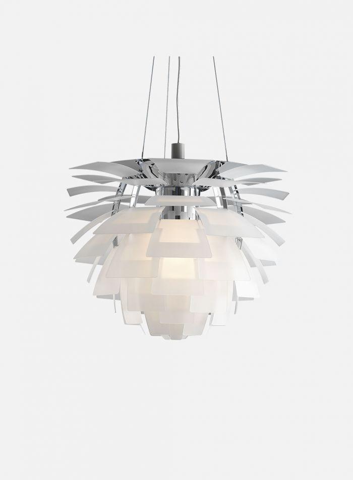 PH Kongle taklampe Ø60 - krom/glass