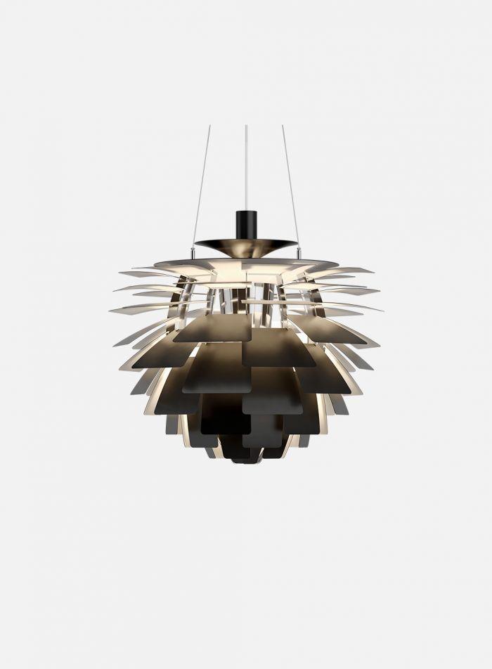 PH Kongle taklampe Ø48 - sort