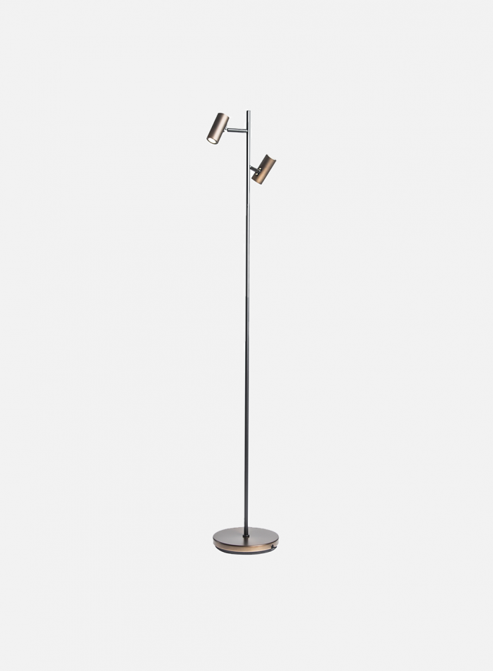 Cato LED duo gulvlampe - oxid