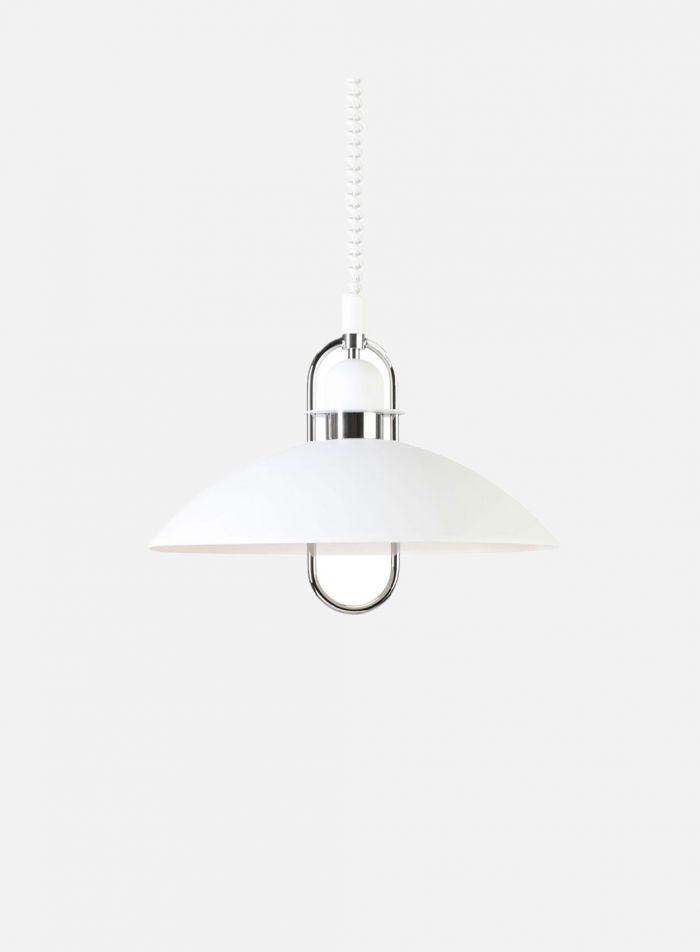 Elisa taklampe med heis - matt hvit