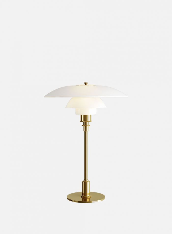 PH 2/1 bordlampe - messing/opal