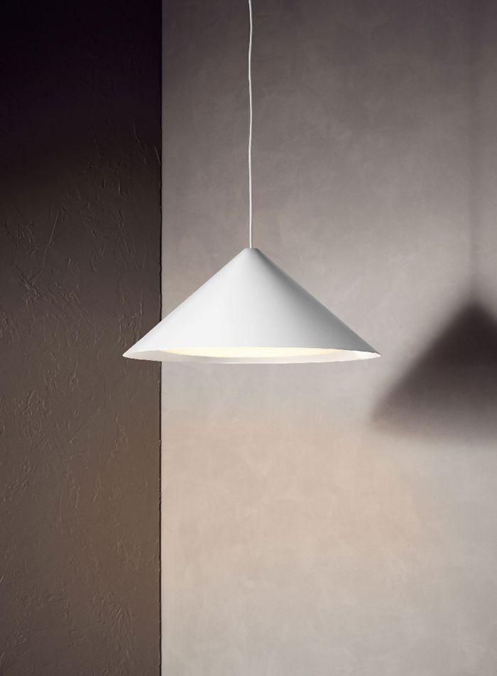 Keglen taklampe Ø65 - hvit