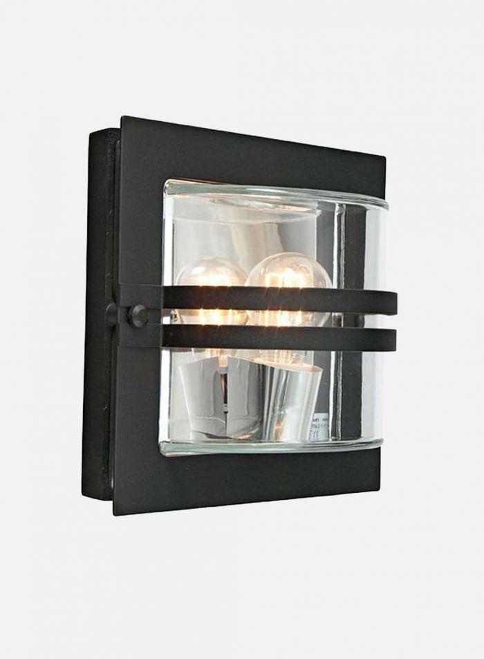 Bern 650 utelampe - sort/klar