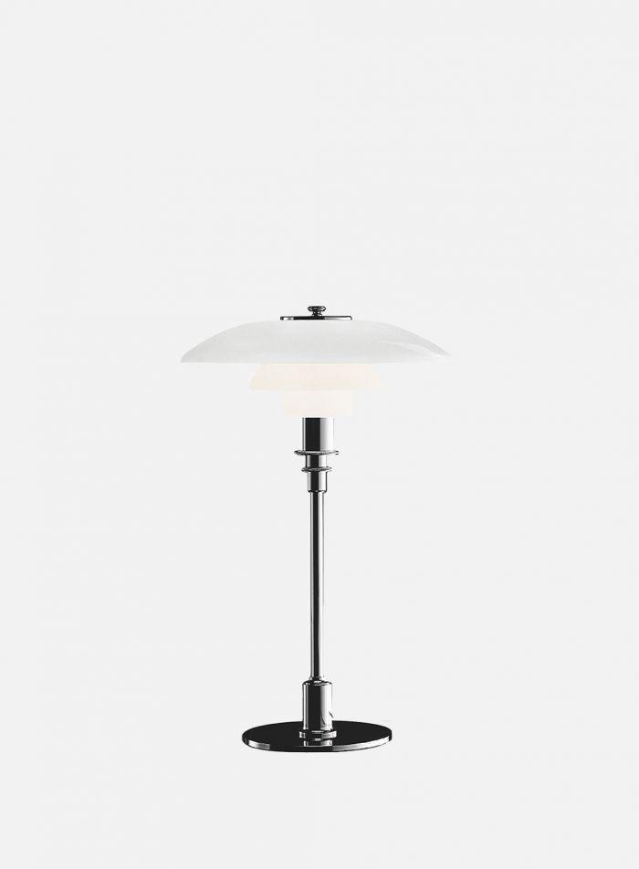 PH 2/1 bordlampe - krom/opal