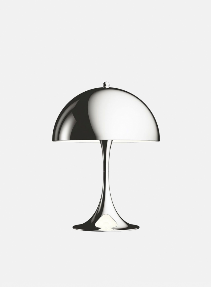 Panthella mini bordlampe - krom