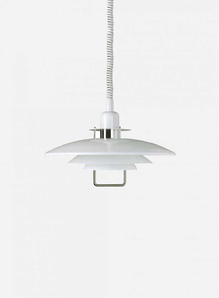 Primus II taklampe - hvit/krom