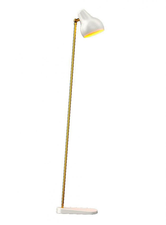 VL 38 gulvlampe - hvit/messing
