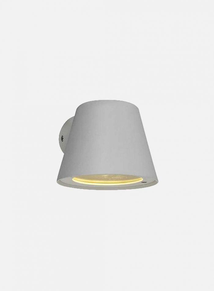 Strand utelampe - hvit