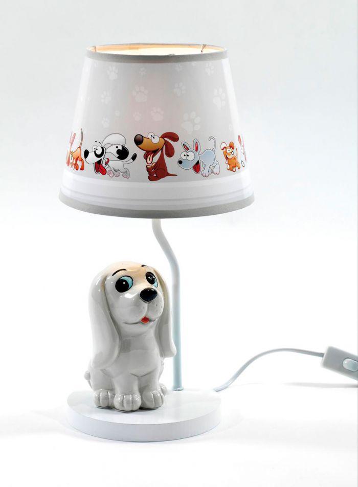 Hund bordlampe - multi