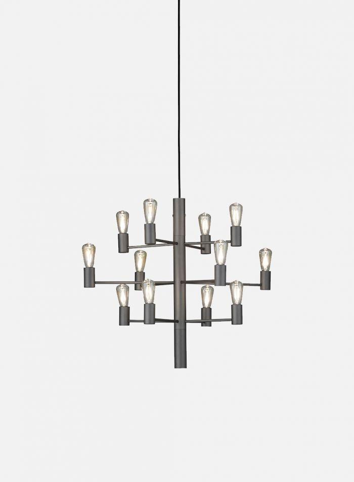 Manola 12 taklampe - grå