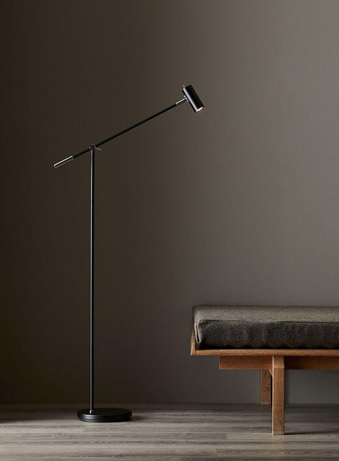 Cato LED gulvlampe - sort