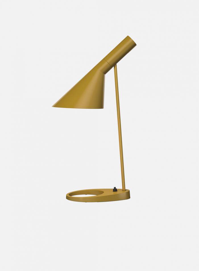 AJ bordlampe - okergul