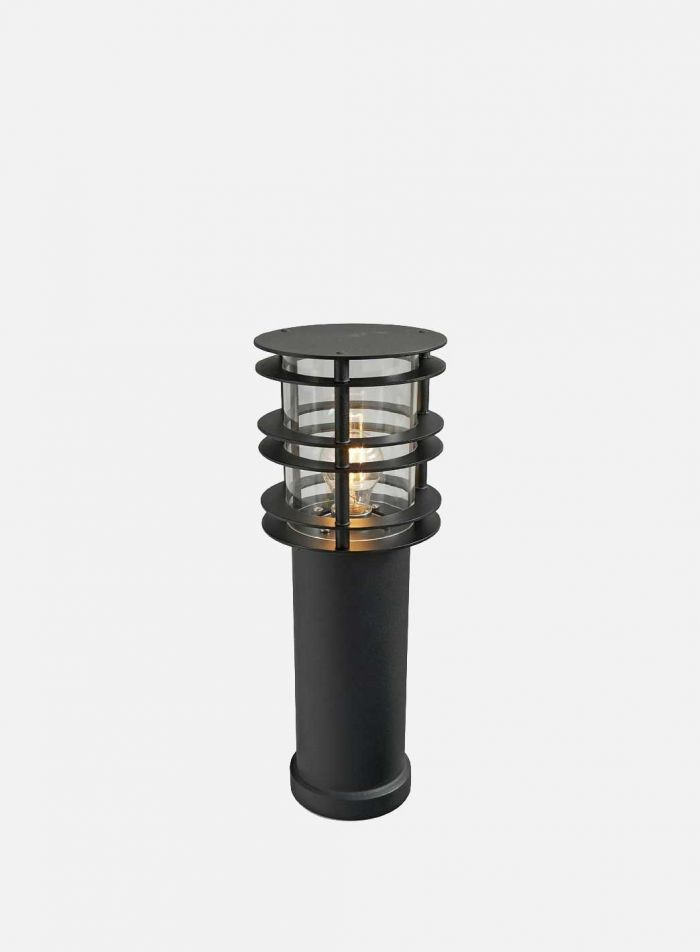 Stockholm 298 utelampe - sort/klar