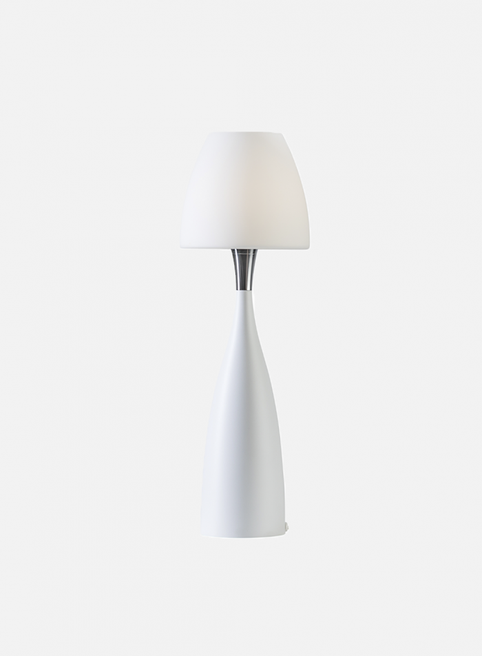 Anemon bordlampe medium - hvit/opal