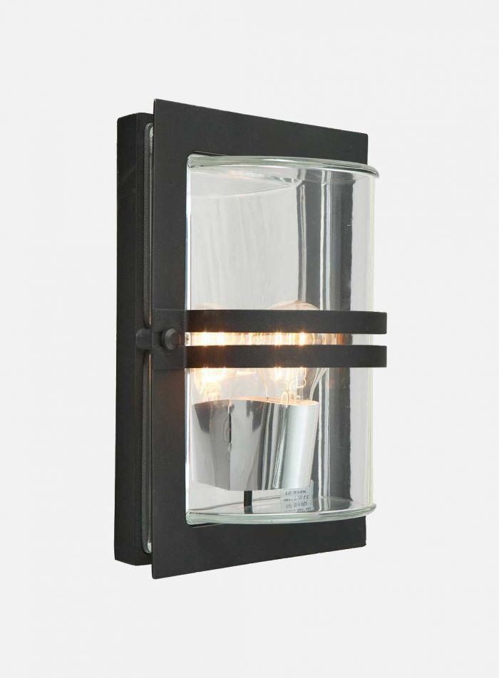 Basel 660 utelampe - sort/klar