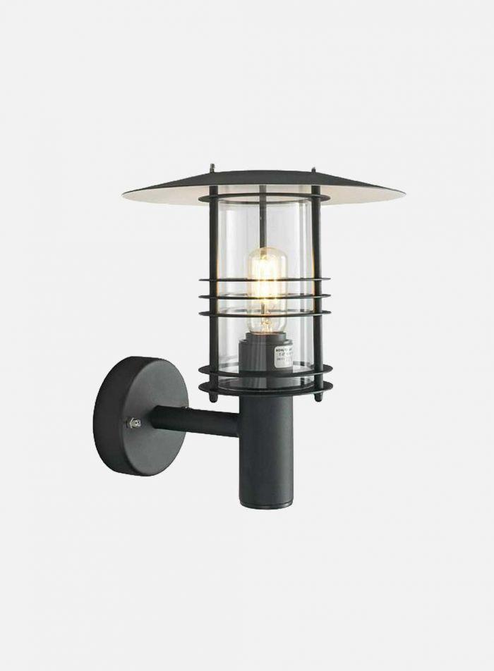 Stockholm 286 utelampe - sort/klar