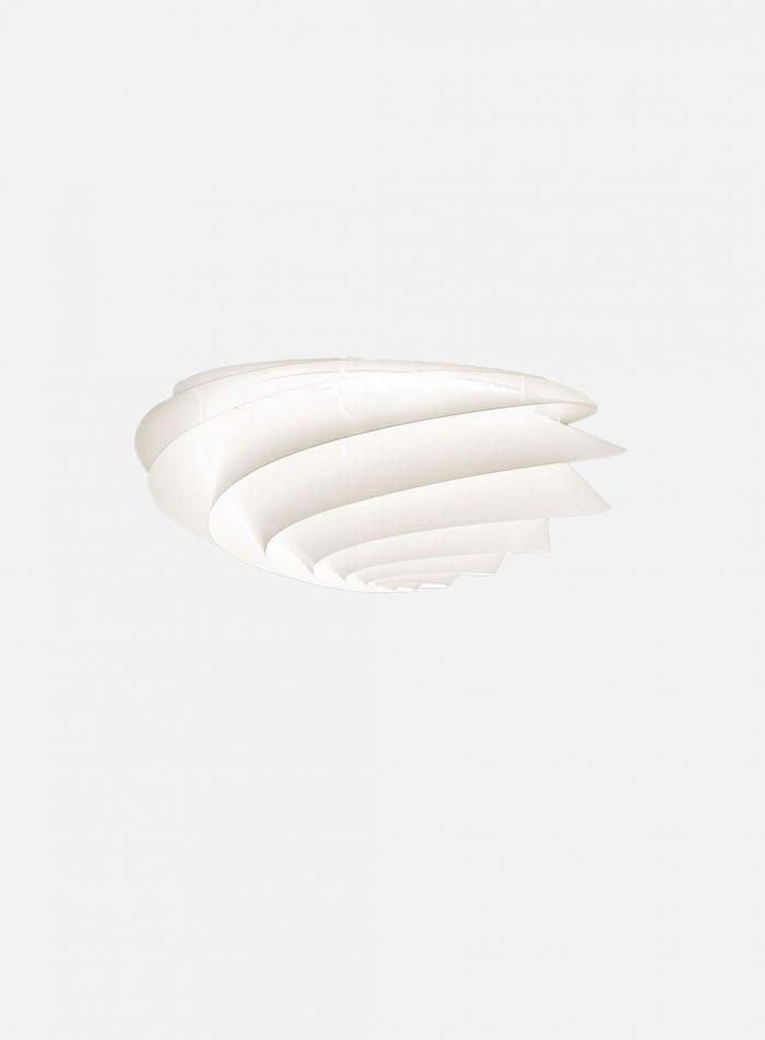 Swirl taklampe/vegglampe Ø60 - hvit