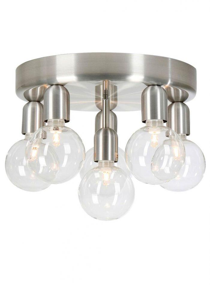 Regal taklampe 6 lys - aluminium