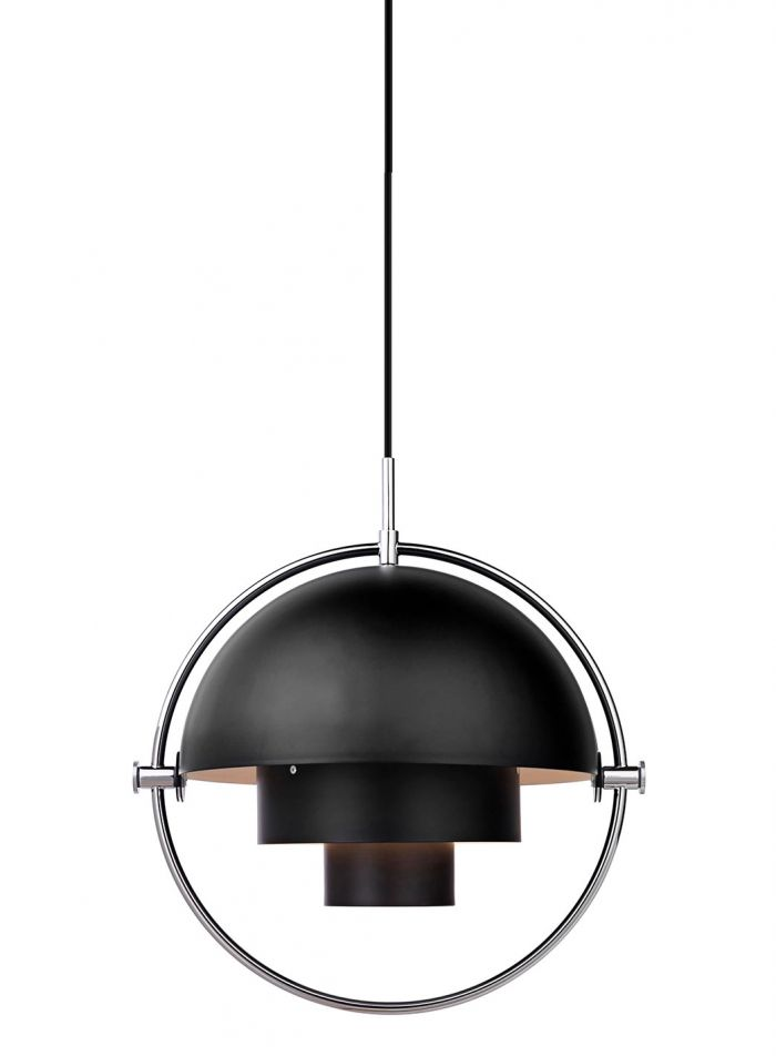 Multi-Lite taklampe - krom/sort