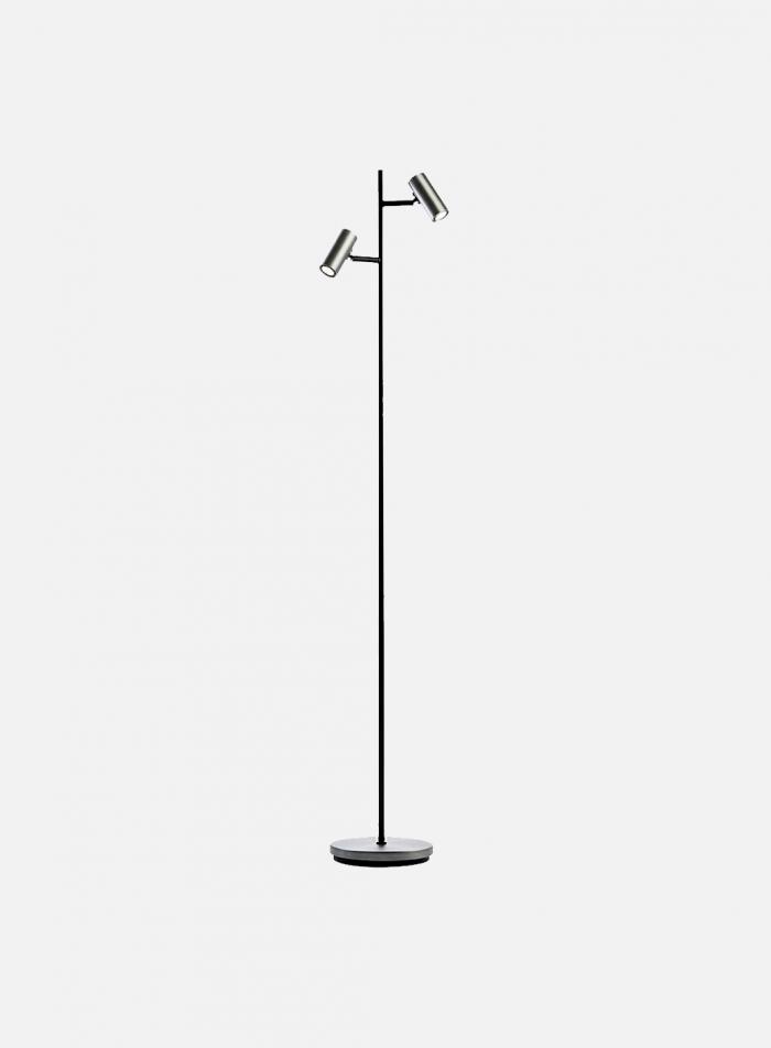 Cato LED duo gulvlampe - oxidgrå