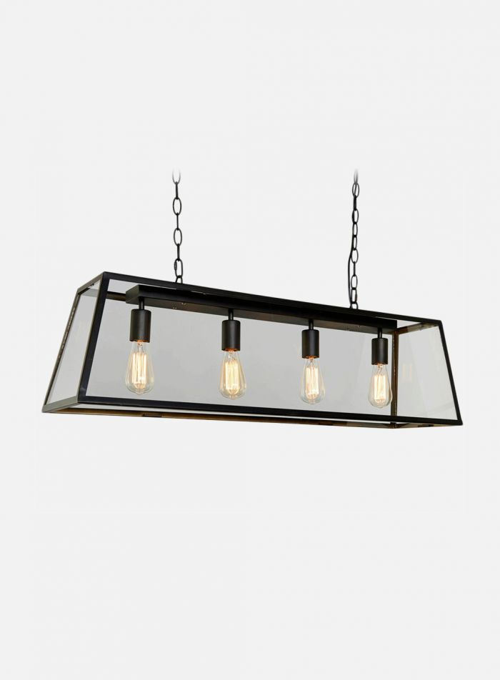Dovre taklampe 4 lys - sort/klar