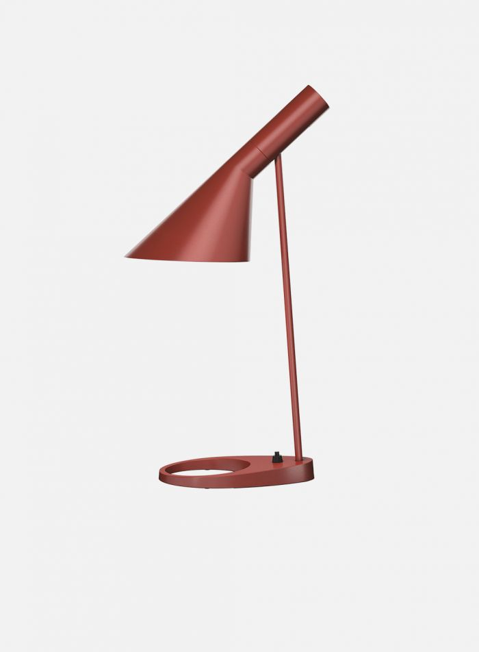 AJ bordlampe - rustrød