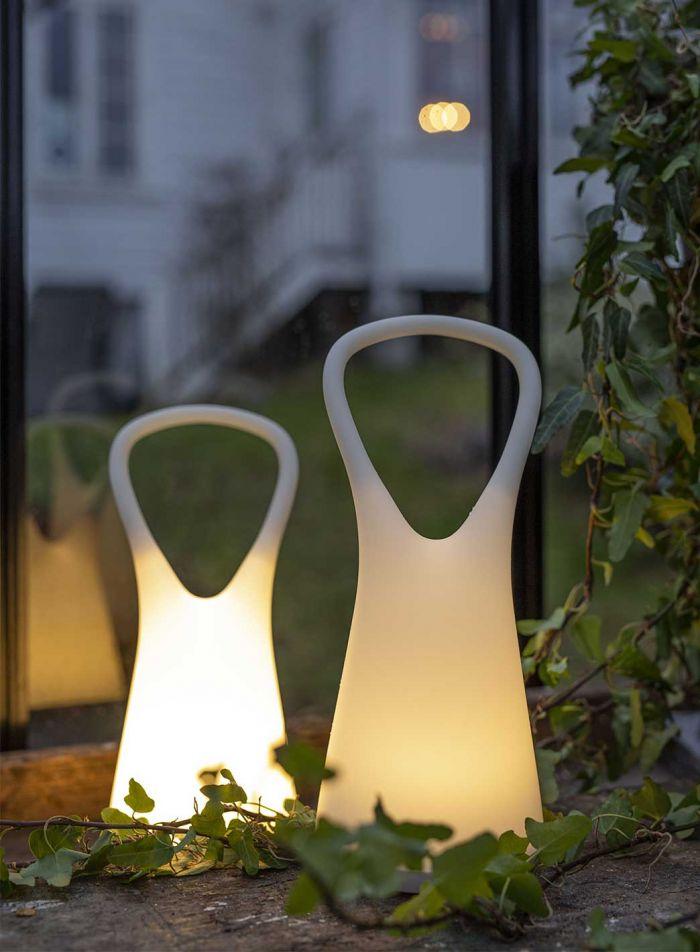 Lidea bordlampe - hvit