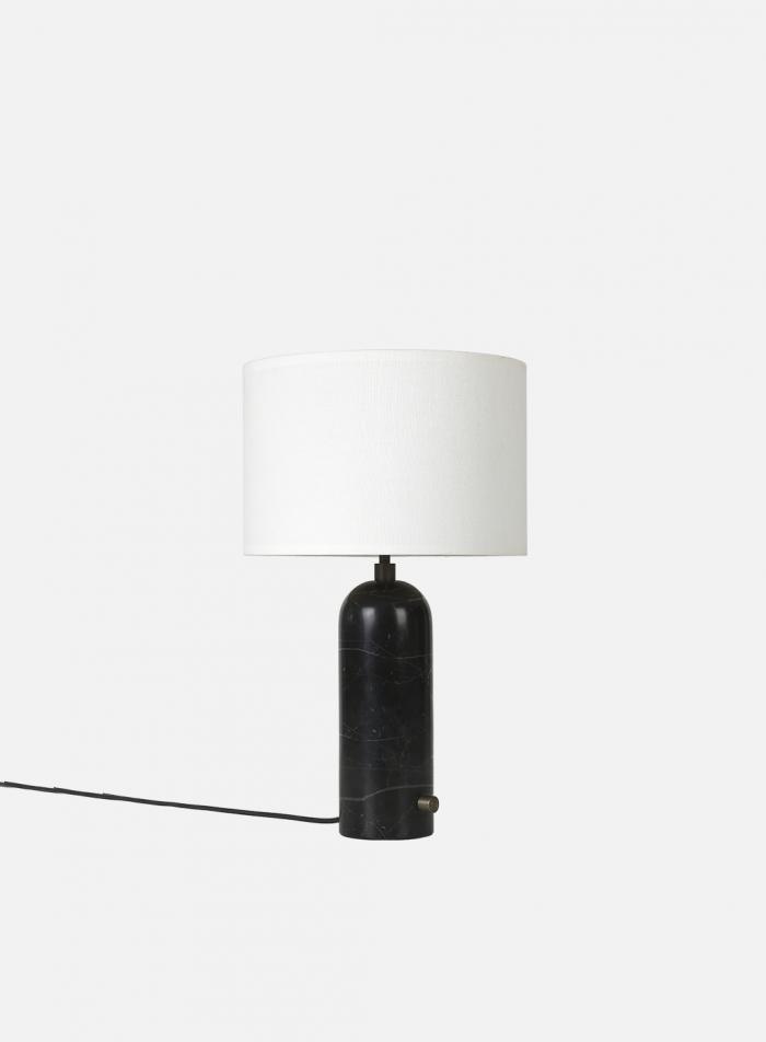 Gravity bordlampe H49 - sort marmor/hvit