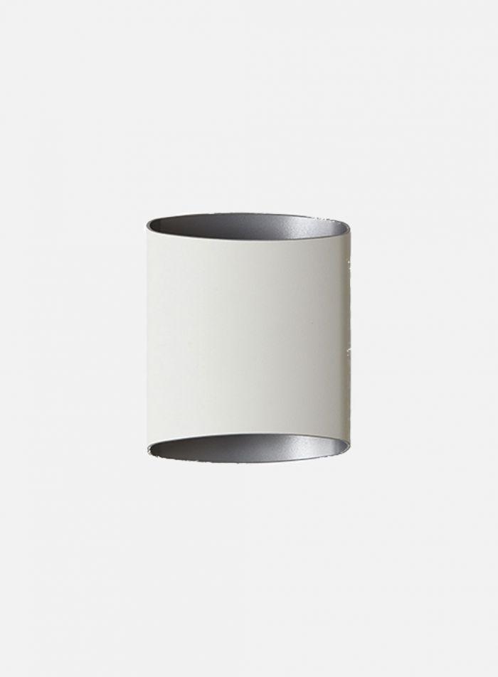 Sinne vegglampe - hvit/sølv