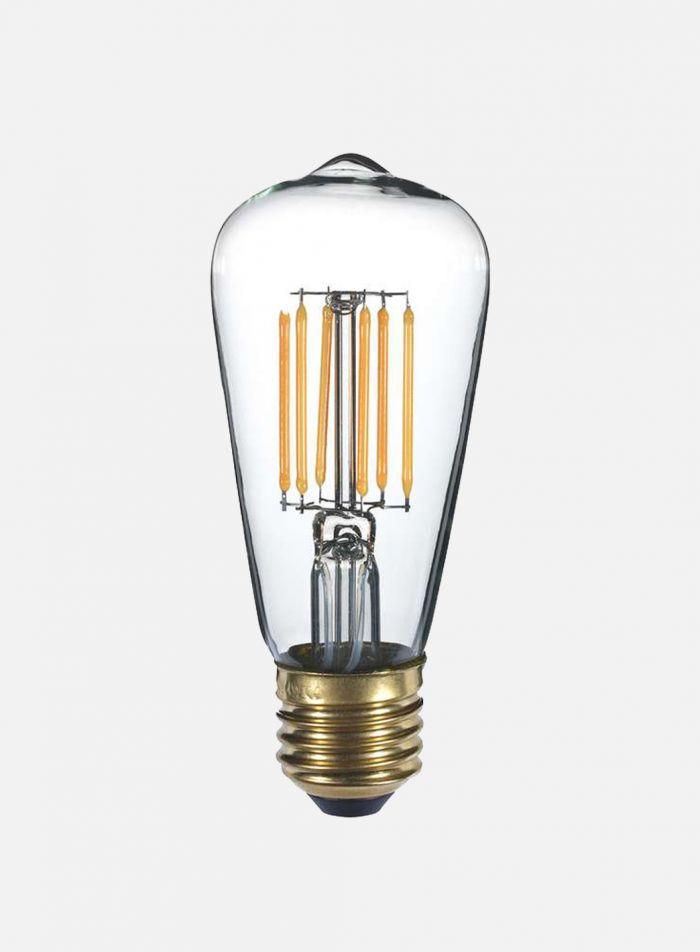 LED-pære Edison E27 4W 6-stavs