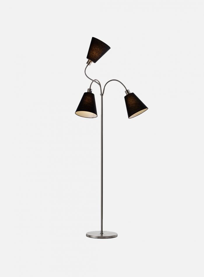 Tosca-3 gulvlampe - stål
