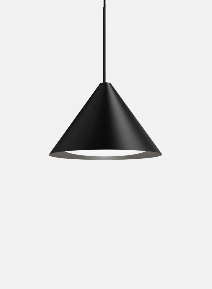 Keglen taklampe Ø40 - sort