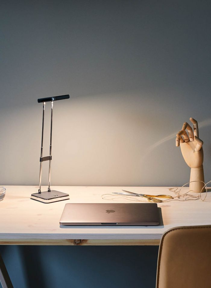 Tim LED bordlampe - grå