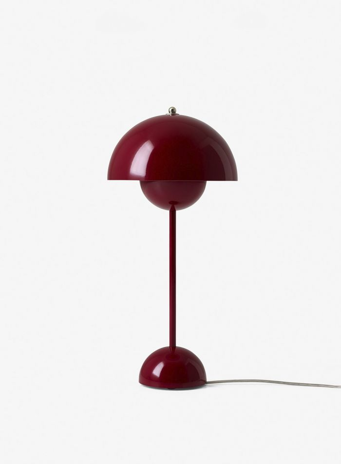 Flowerpot VP3 bordlampe - blank dyp rød