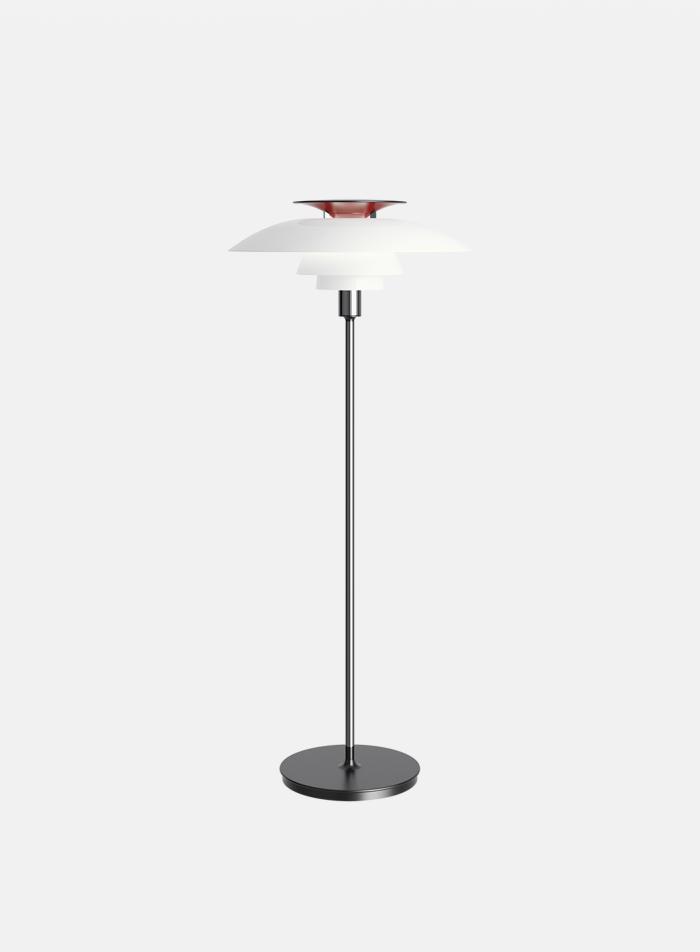 PH 80 gulvlampe - krom/hvit/rød/sort