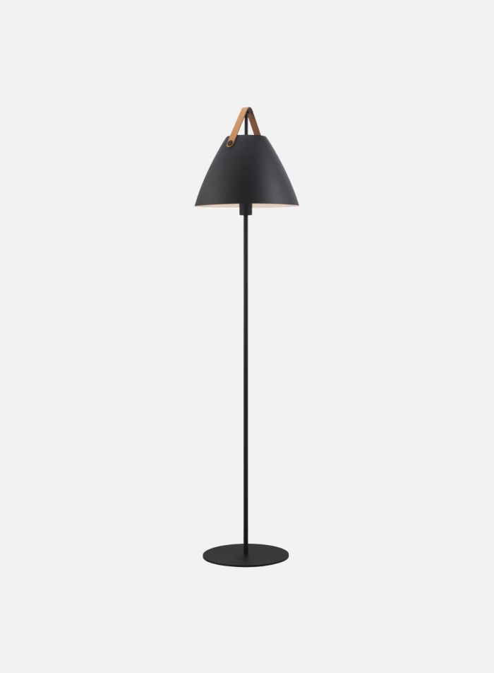 Strap gulvlampe H152 - sort