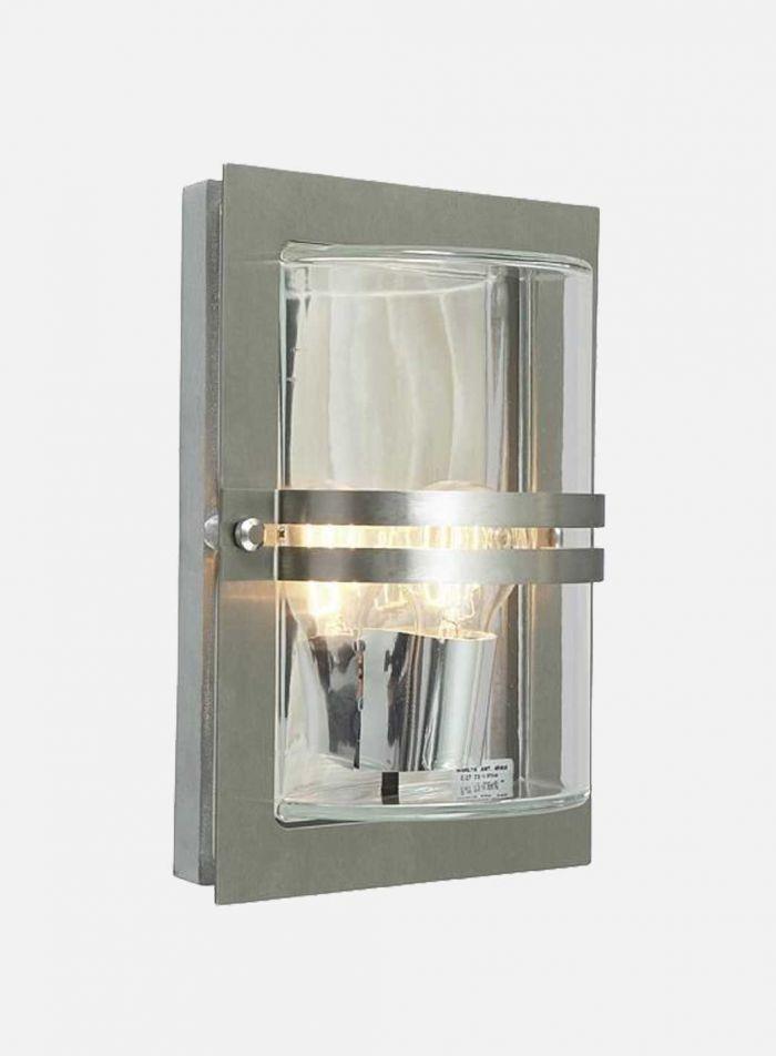 Basel 660 utelampe - stål/klar