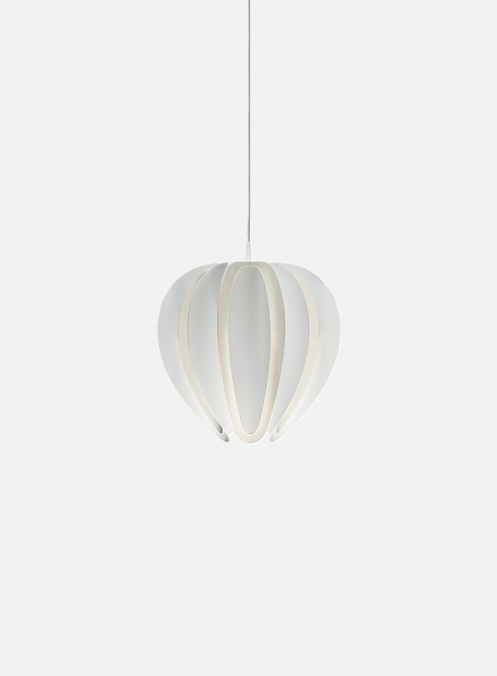Tulip taklampe - matt hvit
