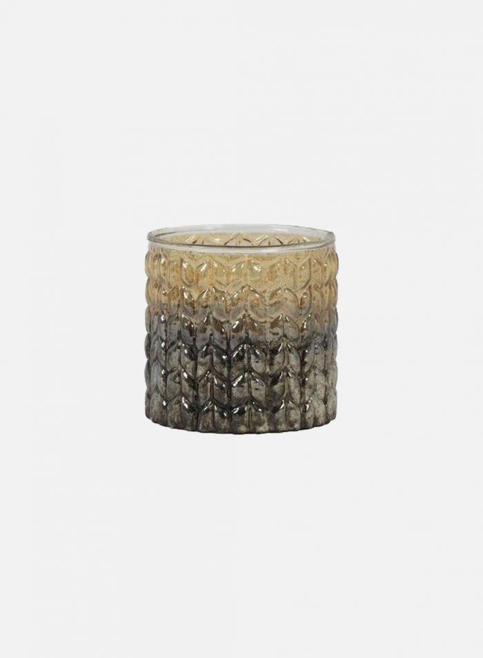 Trinta vase Ø10 - gullfinish
