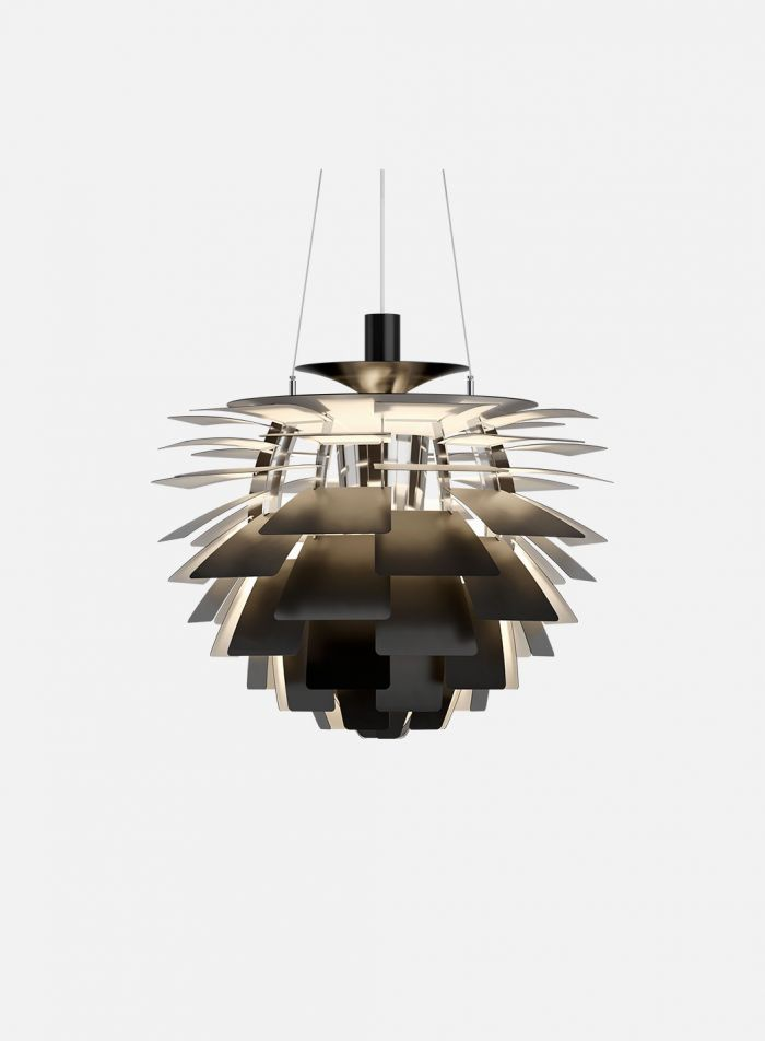 PH Kongle taklampe Ø60 - sort