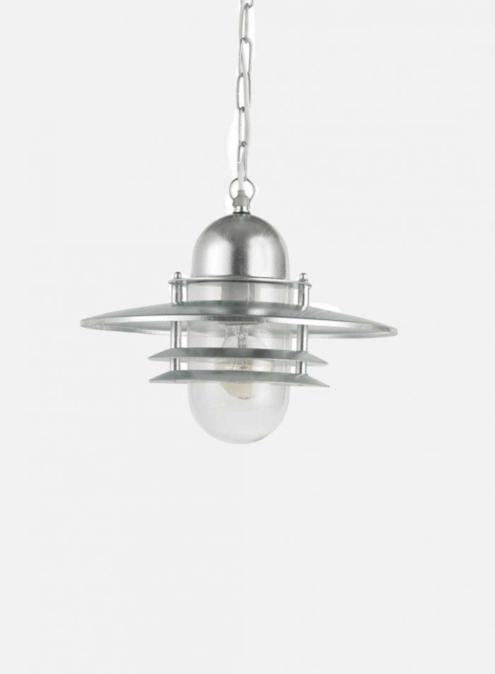 Oslo 240a m/kjetting utelampe - galvanisert stål