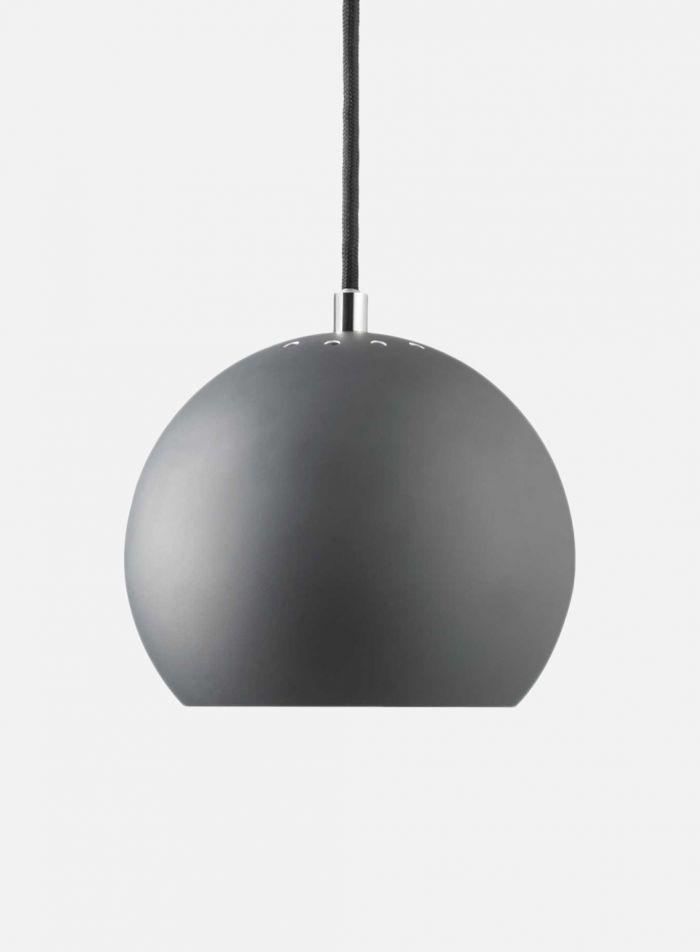 Ball taklampe - matt mørk grå